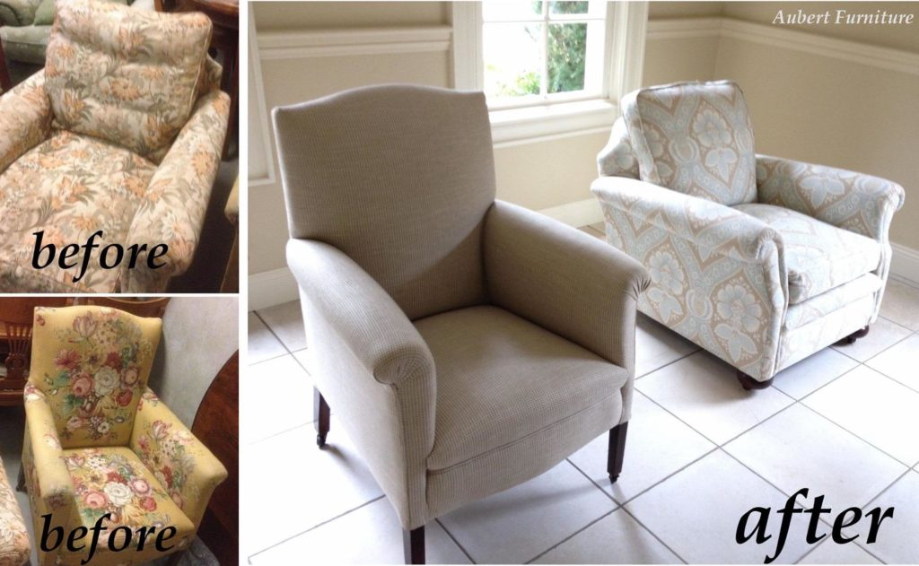 Reupholster and Restoration to two antique armchairs c1940