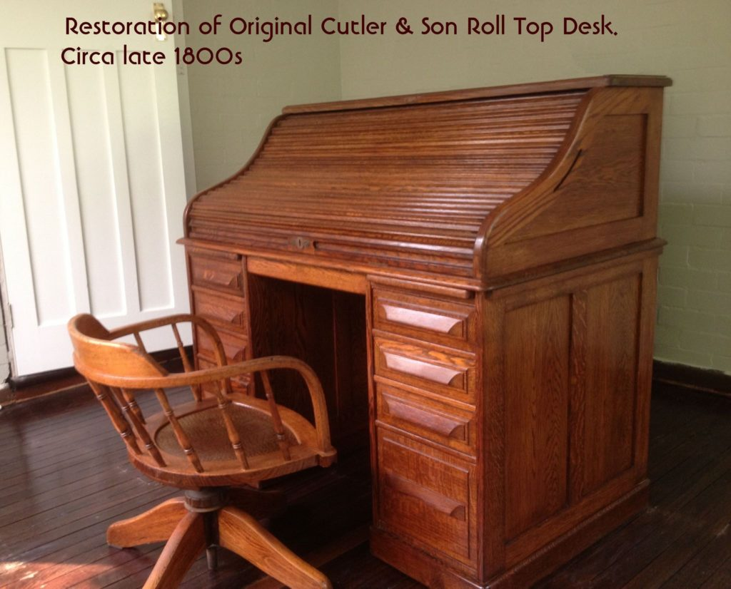 Late Victorian Cutler & Son Roll Top Desk