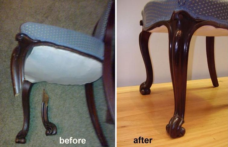 Repair Broken Leg of Victorian Chair c1880