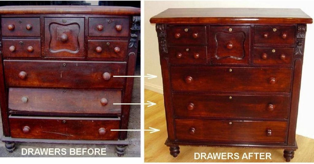 Repair Australian Cedar Chest of Drawers c1880