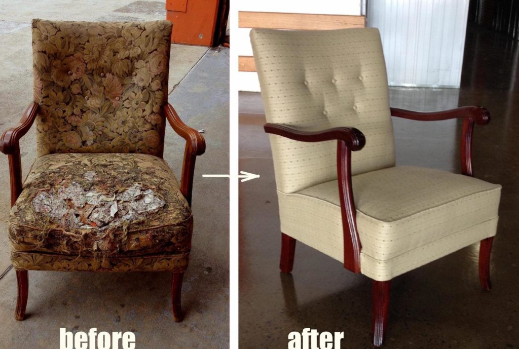 Restoration and Upholstery of 1930s Armchair
