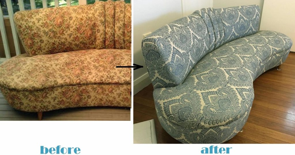 Repair and Reupholstery of Art Deco Sofa c1930s