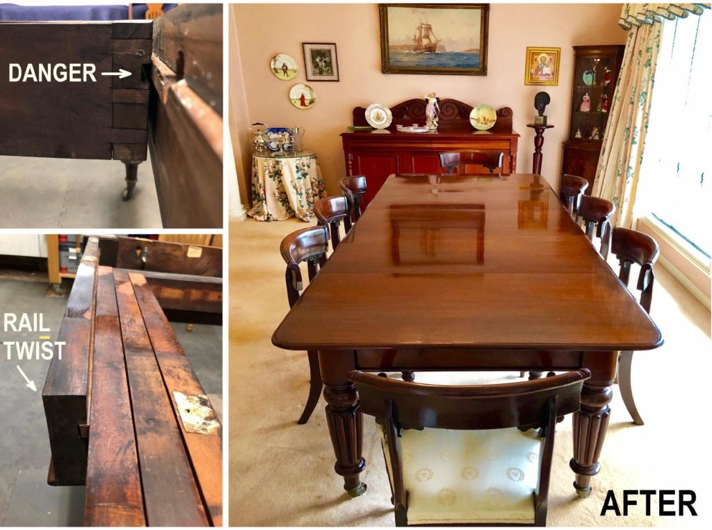 Repair Collapsed  Mahogany Extension Table c1860