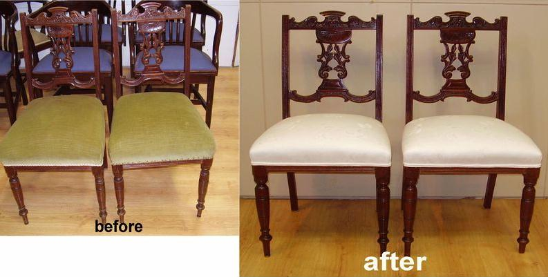 Reupholster and Repair Edwardian Dining Chairs c1900