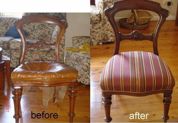 Reupholster and Recover Victorian Dining Chair Seat c1870