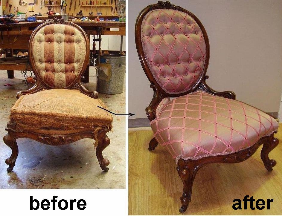 Restoration of English Walnut Grandmother Chair circa 1860.