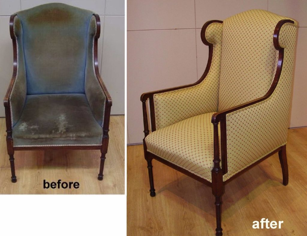 Restoration and Reupholstery of Sheraton Style Armchair c1910