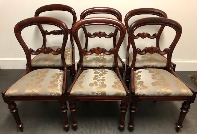 Conservation restoration and repair Victorian Balloon back chairs c1870