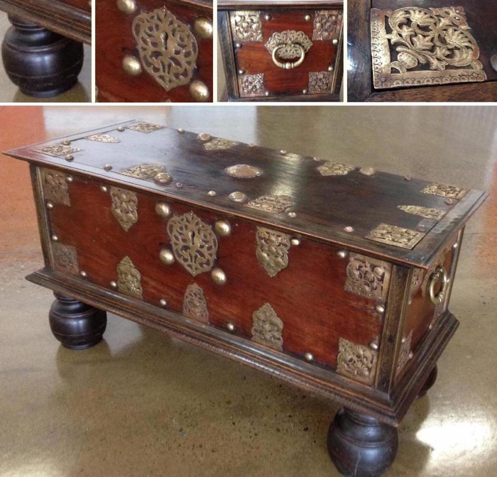Conservation restoration of Dutch Colonial chest circa 1780