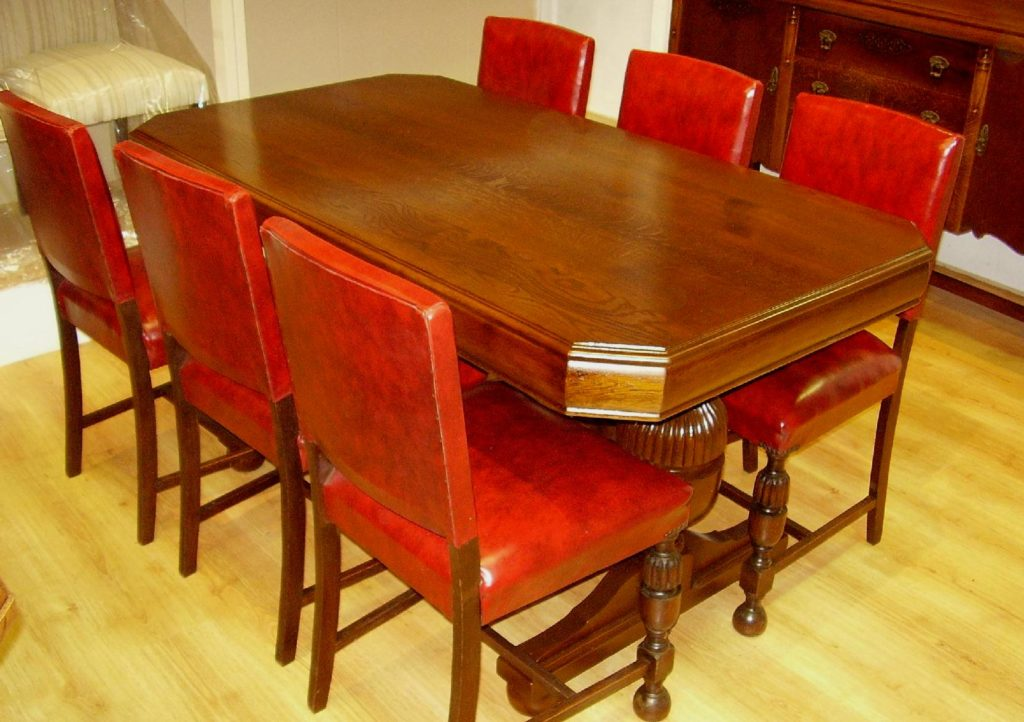 Jacobean Table & Chairs c1940s