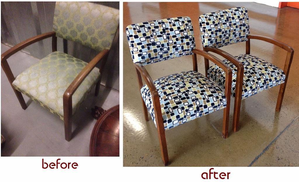 Restoration two bridge chairs c1940s