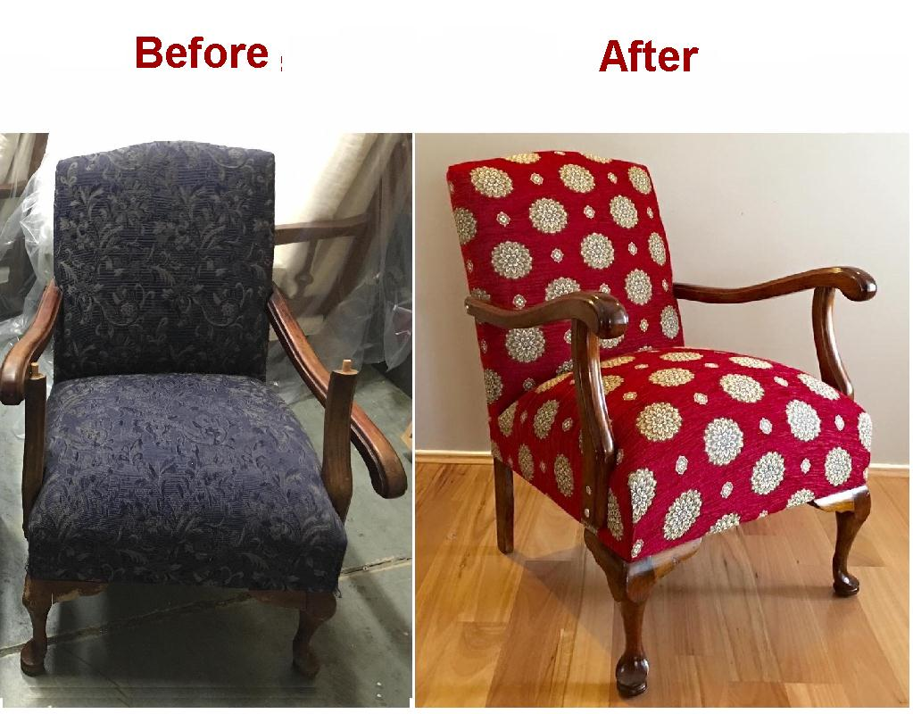 Reupholster & Recover Vintage Armchair