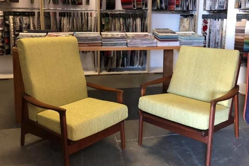 Restoration and Reupholster 2 x Parker Chairs