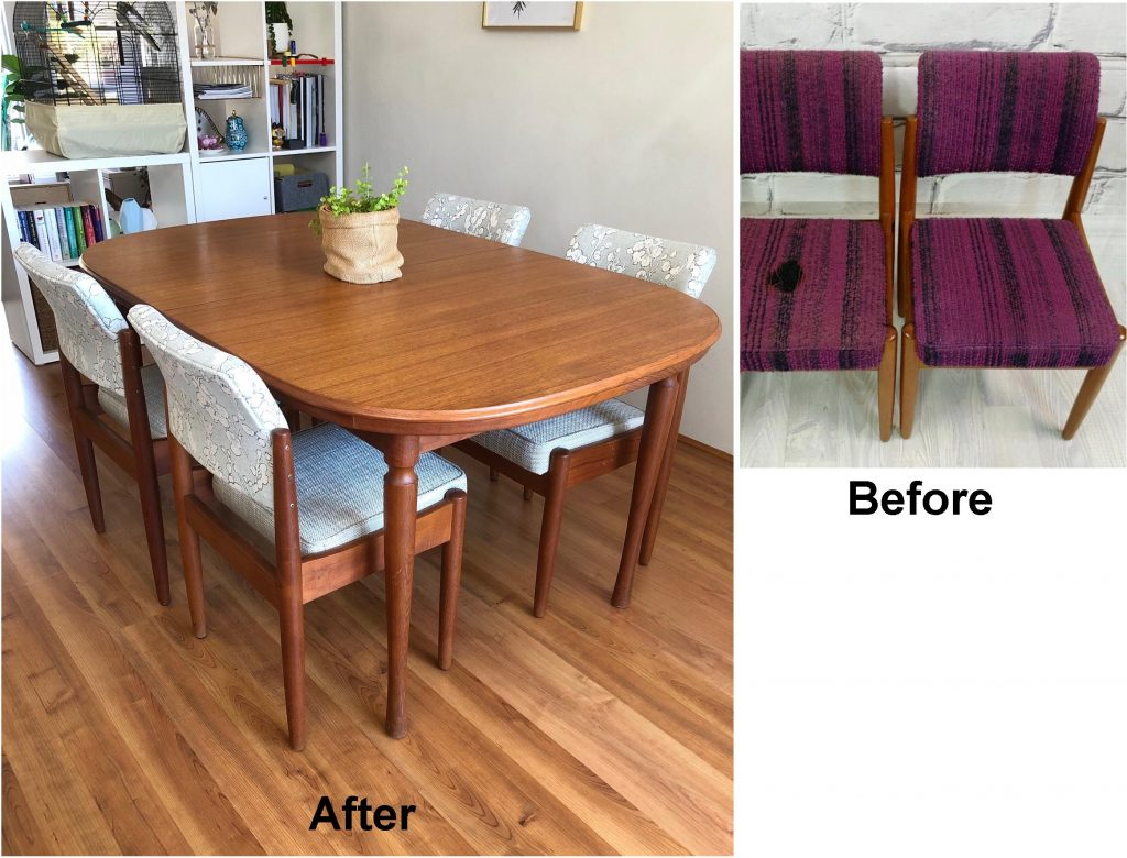 Reupholster 4 x Chiswell Dining Chairs