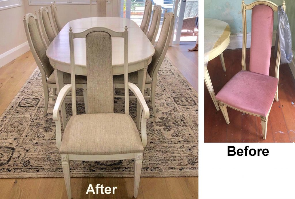 Reupholster 8 Berryman Dining Chairs c1973