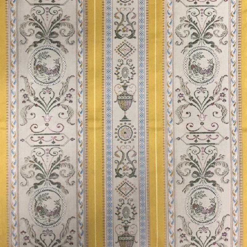 ANGERA GOLD-BLUE by Redelman. Click to view fabric...