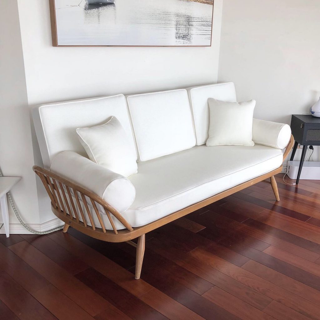 Reupholster and recover Ercol Daybed.