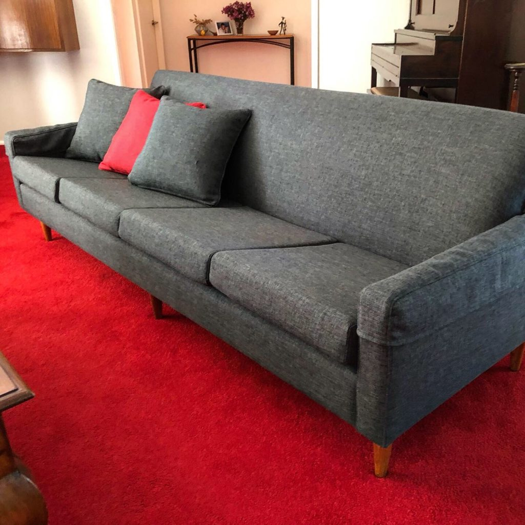 Restoration and reupholstery of 1960s Parker Lounge.
