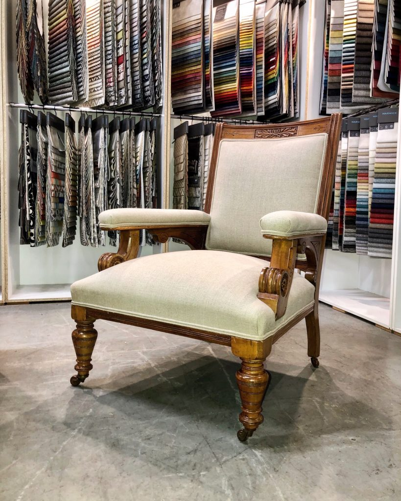 Restoration, repair and reupholstery Edwardian Armchair