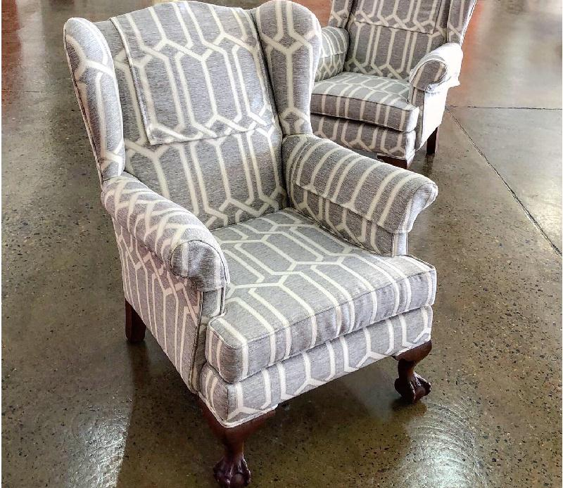 Two vintage armchairs c1940