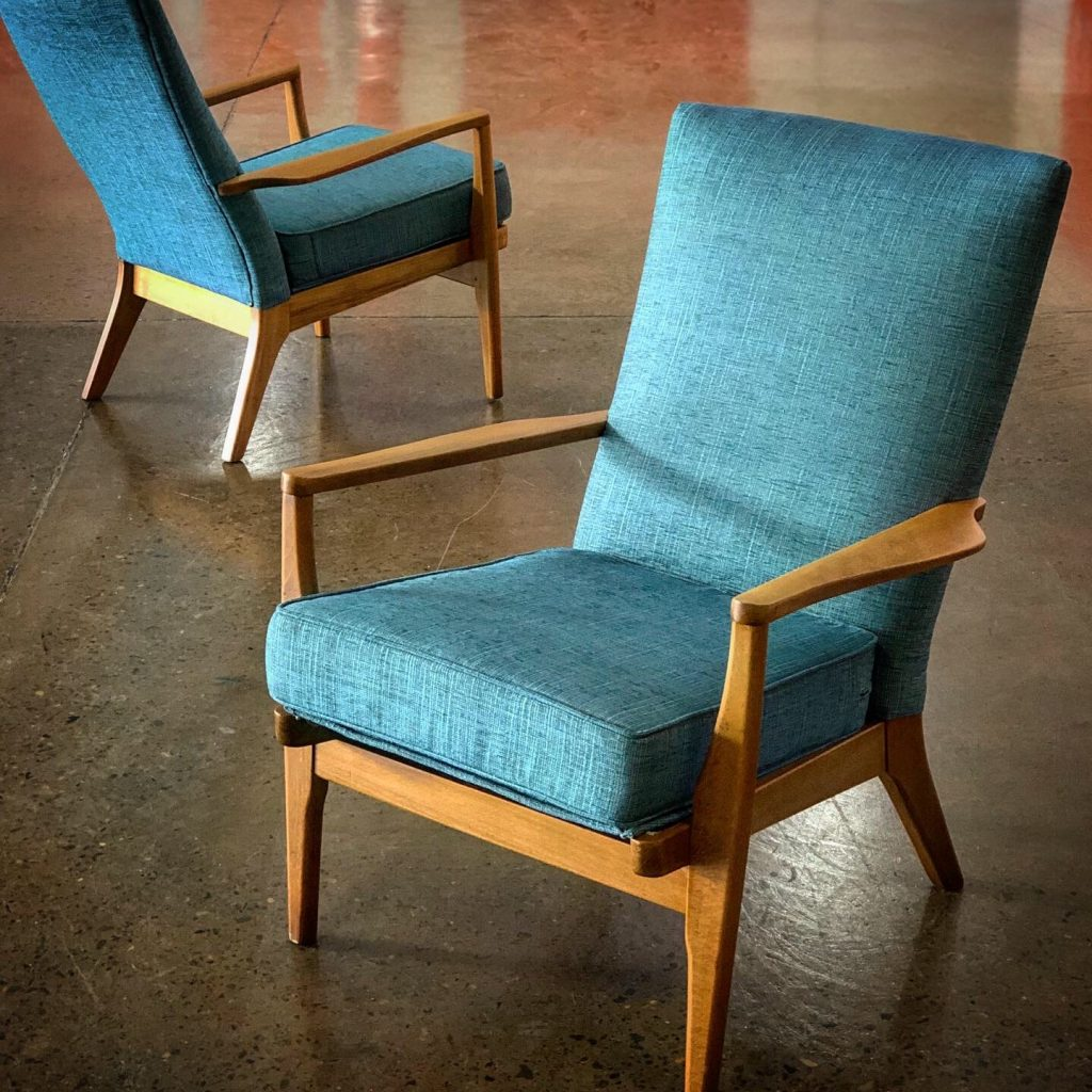 Two Parker Knoll mid-Century arm chair