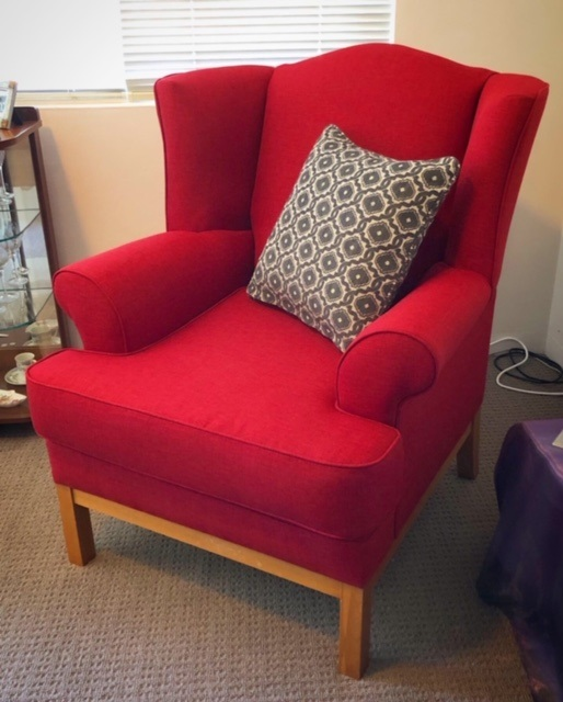 Wingback Armchair Reupholstery
