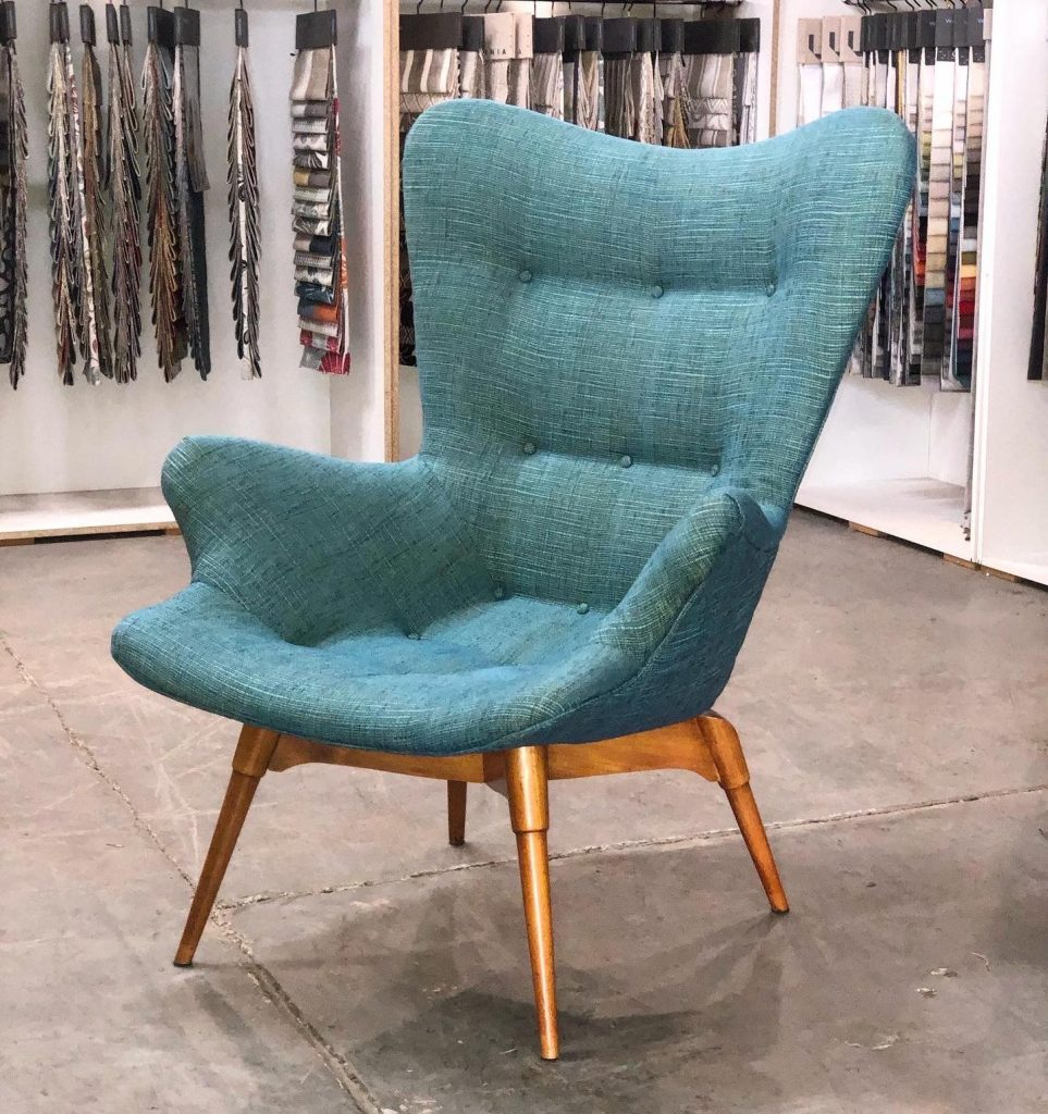 Restoration, repair and reupholstery of this awesome ORIGINAL 1950s Grant Featherston Chair